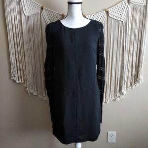 Adrianna Papell Black Lace Sleeve Sheath Dress 4